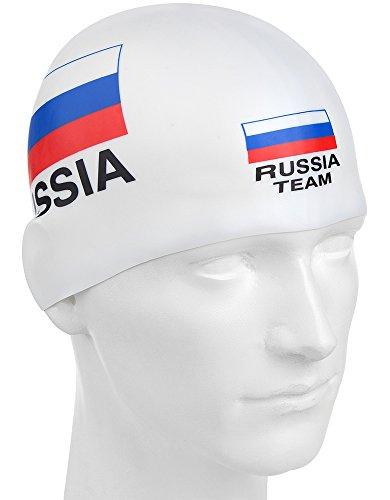 Russische Team Silikon Cap, weiß, Einheitsgröße