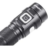 Uemaker LED Torch LED Linterna Linterna de Mano Ajustable 1500 Lumen Luz LED con Zoom para excursiones, Acampar y Actividades al Aire Libre