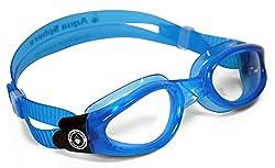 Aqua Sphere Kaiman Swim Goggle (Regular, Clear Lens/Blue Frame)