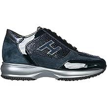 Hogan Scarpe Sneakers Donna camoscio Nuove Interactive Blu 67ca5597c0d