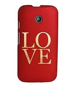 KolorEdge Back Cover For Motorola Moto E (2nd Gen) - Red (1259-Ke15114MotoE2Red3D)