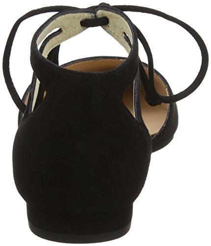 LK BENNETT Elodie, Ballerine con Cinturino Alla Caviglia Donna Blu (Bla-black)