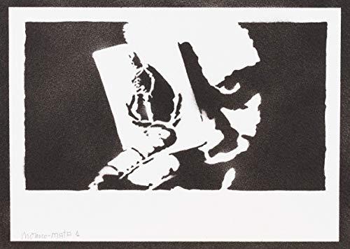 Joker Spielkarte Batman Poster Plakat Handmade Graffiti Street Art - Artwork (Arten Von Batman Kostüm)