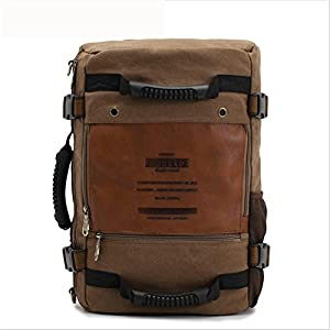 beibao shop Backpack–Aleatorio Caballero Packs Daypack Moda Lienzo Piel Viaje Senderismo Mochilas Ciudad universitaria Mochila Hombro Bolsa Portátil, Tablet, PC