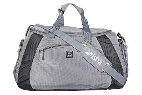alfisha (Expandable) Lightweight Waterproof Luggage Travel Duffel Bag   20  Inch Travel Duffel Bag (Grey) b74ce3cfd4