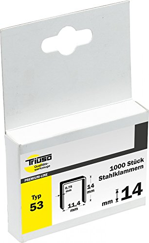 Triuso Agrafes pour Agrafeuse pince pour agrafeuse VPE 1000agrafes Longueur: 14mm