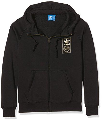 Abbigliamento donna Adidas Logo Essential oro full zip Hoody, Unisex, Oberbekleidung Logo Essential Gold Full Zip Hoody, nero, 44