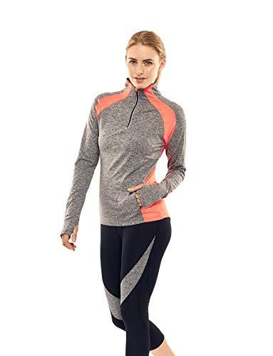 bceee2333 Calmia - Camisa deportiva - para mujer Gris Coral Mid Grey Marl Medium
