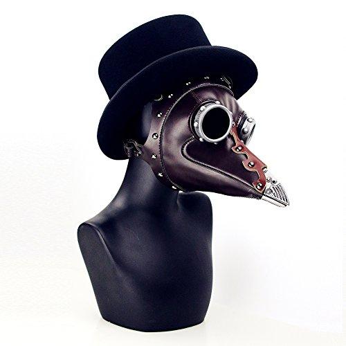 XC Steampunk Pest Persönlichkeits Schnabel Doktor Maske, Halloween Rollenspiel Party Maske, PU + Hardware-Metall + ()