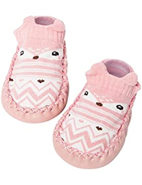FNKDOR Cartoon Neugeborenes Babyschuhe Mädchen Jungen Anti-Slip Socken Slipper Stiefel