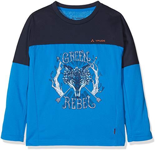 Vaude Kinder Kids Fulmar LS Shirt II T, Blue/Eclipse, 110/116