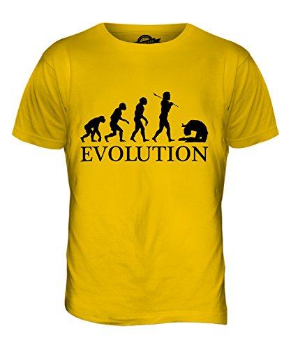 CandyMix Acro Evolution Des Menschen Herren T Shirt Dunkelgelb