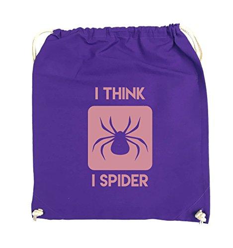 Borse Comiche - Penso Che Io Spider - Turnbeutel - 37x46cm - Farbe: Schwarz / Pink Lila / Rosa