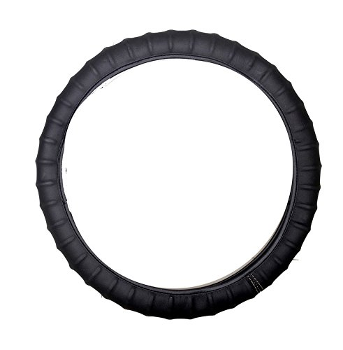 vheelocityin 85058 black ribbed steering cover for maruti swift Vheelocityin 85058 Black Ribbed Steering Cover for Maruti Swift 41R45kXh9hL