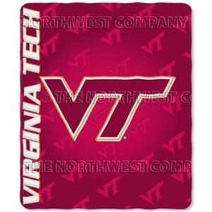 Virgina Tech Hokies NCAA Lightweight Fleece Throw Blanket 50x60 by Augusta Sportswear