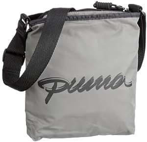PUMA Damen Umhängetasche Core Portable, black-steel grey, UA, 2 liters, 069953 01