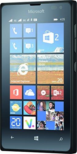 Microsoft Lumia 435 Smartphone débloqué 3G+ (Ecran : 4 pouces - 8 Go - Double SIM - Windows Phone 8.1) Noir