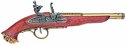 hrhundert Trim Pirat, Schießen, Gewehr Pistole Flintlock Antik, Messing (Antike Piraten Pistole)