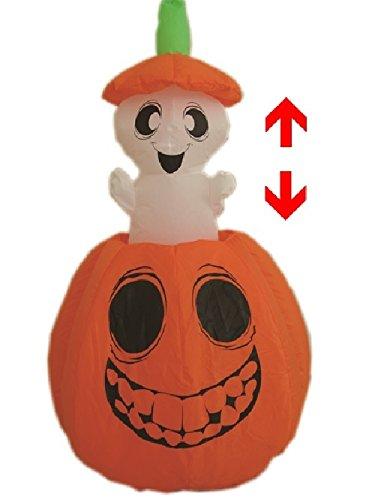 mbH Selbstaufblasbarer beweglicher Geist im Kürbis Halloween Herbst Dekoration (Bewegliche Halloween Dekoration)