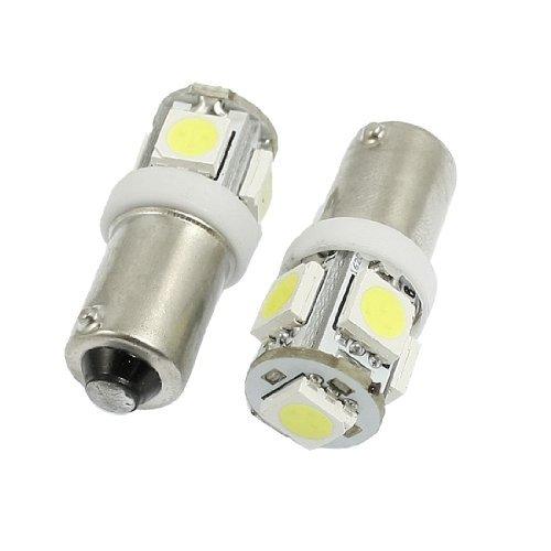 Preisvergleich Produktbild Water & Wood 2 Pcs Auto Weiß BA9s 1895 5050 5SMD LED Signal Glühlampe Lampen mit Auto Reinigung Kleidung