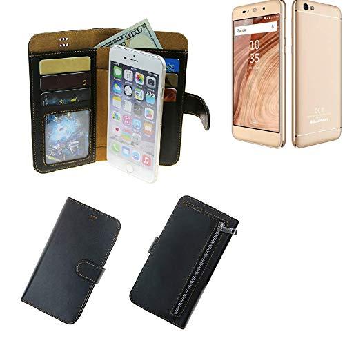 K-S-Trade® Für Blaupunkt SL02 Schutz Hülle Portemonnaie Case Phone Cover Slim Klapphülle Handytasche Schutzhülle Handyhülle Schwarz Aus Kunstleder (1 STK)