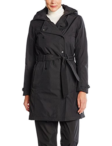 Helly Hansen Damen W Welsey Trench Insulated Jacke, Black, M (Insulated Womens Rain)