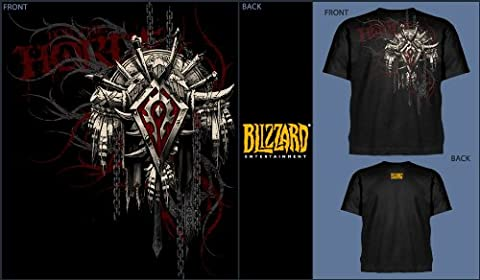 World of Warcraft T-Shirt Horde Wappen Groesse L (Herren Volles Logo T-shirt)