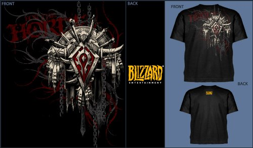 World of Warcraft T-Shirt Horde Wappen Groesse S