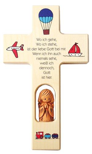 Neumeyer N418 Kinderkreuz, Holz, 20 x 12 x 2,5 cm, natur