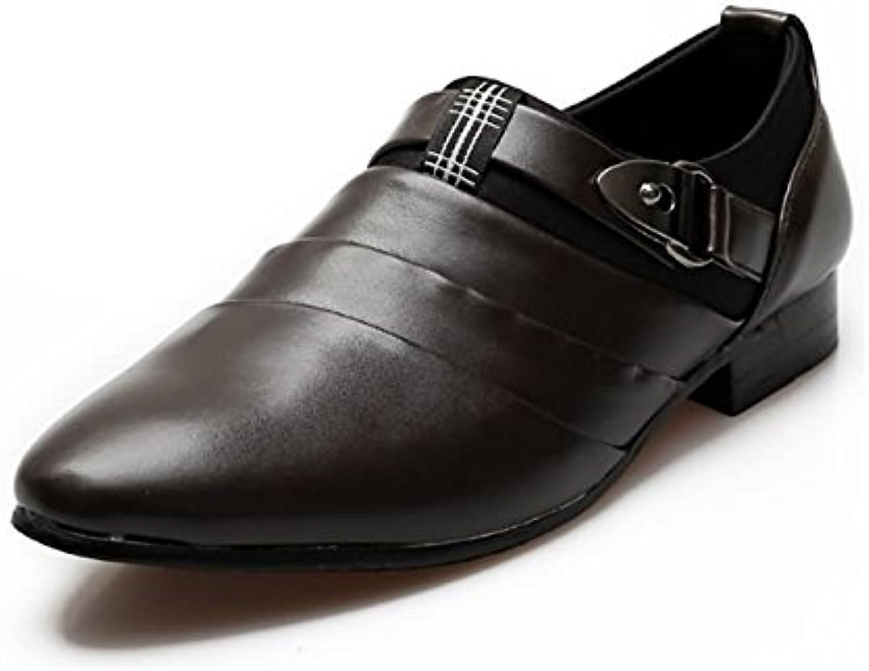 Huaishu Herrenmode Leder Formale Schuhe Vier Jahreszeiten Klassische Comfort Oxford Schuhe Turnschuhe Casual Flache
