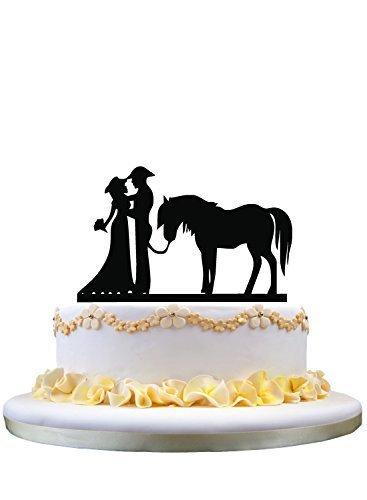 n mit Pferd, rustikales Hochzeitsgeschenk, Verlobung, Party, Dekoration, Hochzeit, Jahrestag, Party, Kuchen Dekoration ()