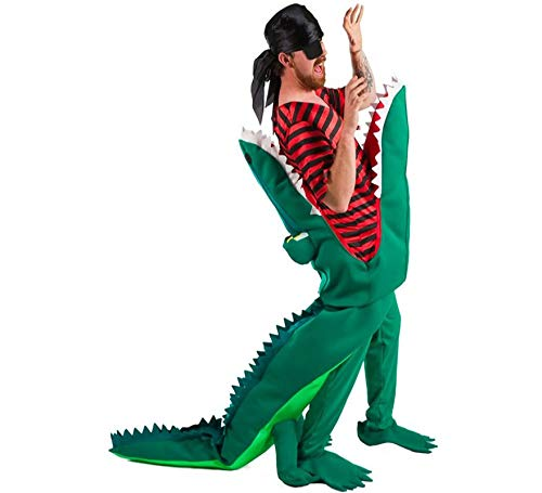 NINES O NIL Eater Krokodil-Kostüm für Erwachsene Piraten (Krokodil Kostüm Für Erwachsene)