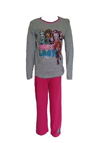 Monster high Mädchen Schlafanzug Gr. 10 Jahre, grau