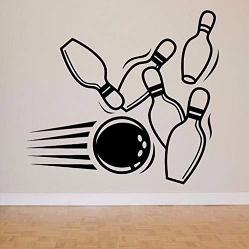 rz Wandtattoo Bowling Pin Ball Muster Sport Wandaufkleber Moderne Mode Kunst Wandbild Spielzimmer Speziellen Fenster Dekor Design ()