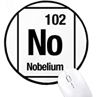 DIYthinker Sin Chem Nobelio elemento químico redondo antideslizante tapetes de ratón Negro Titched Bordes Juego Oficina