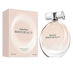 Calvin Klein Sheer Beauty Eau de Toilette Spray, 3.4 Ounce