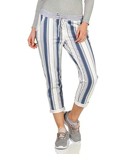 ZARMEXX Damen Sweatpants Baggy Boyfriend Sommerhose Sport All-Over Print One Size Muster 1 One Size (36-40) (Karierte Sneakers)