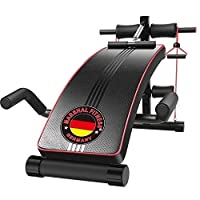 Marshal Fitness Heavy Duty Sit Up Exercise Bench with Pull up Spring Resistance Band And Push Up Bars-MFDS-1833