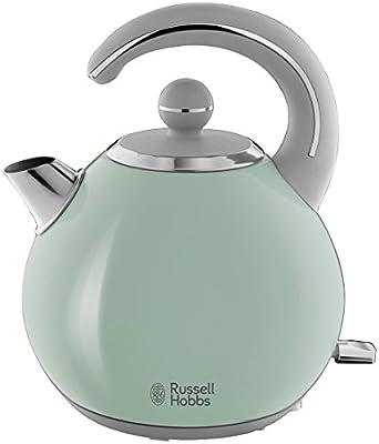 Russell Hobbs 24404-70 Bouilloire Bubble Verte, 2300 W, 1.5 Liters, Acier Coloré d'Un Vert d'Eau Apaisant Associé à des Touches d'Acier Brillant