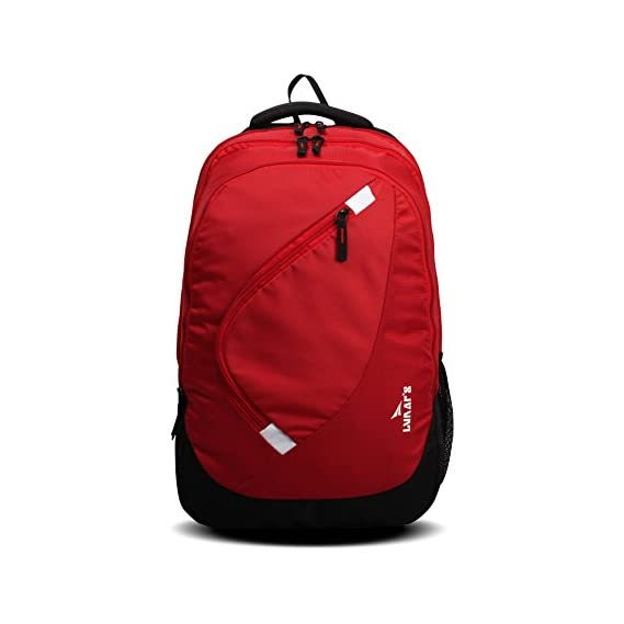 Lunar's Comet 35L Water Resistant Casual Backpack - 3 Compartments, Anti - Theft Internal Organiser, 1 Year Warranty (Red)