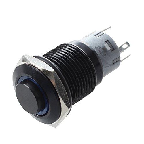 TOOGOOR Interruptor 12V 16mm LED Azul Boton Redondo