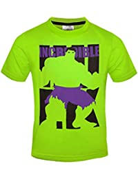 Marvel Avengers Incredible Hulk Official Boys Kids T-Shirt Green