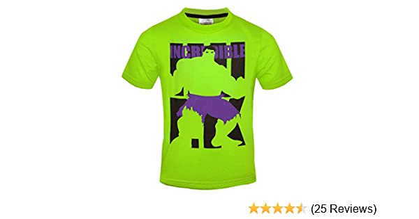 Marvel The Incredible Hulk Boys Bright Green T-Shirt Ages 3-10 Years Available