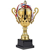 Trophy Cup – Trofeo grande, premio de oro para deportes, torneos, competiciones, oro, Large