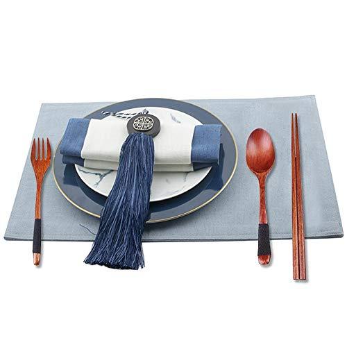 Tragbare Besteckset aus Holz, Food-Service-Ausrüstung und Zubehör für Küche, Reisen, Picknick, Büro oder Zuhause (Gabel, Löffel, Essstäbchen)