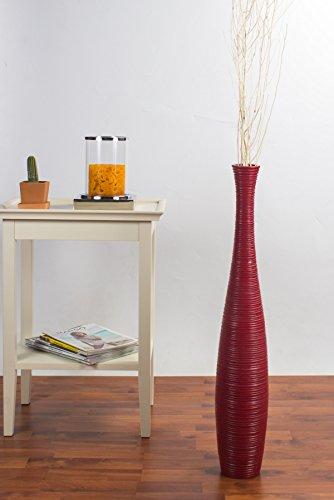 Jarrón de Suelo 75 cm, Madera de Mango, Rojo