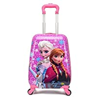 Frozen Princess Elsa and Anna Kid's Travel Luggage suitcase Childred Trolley Case Cartoon Rolling Bag for School Kids Trolley Bag on wheels Boarding Box