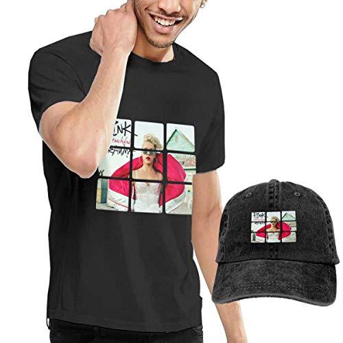 Baostic Herren Kurzarmshirt Mans Pink Beautiful Trauma Music Band T Shirt Cycling Tee Shirt Buy Tshirt Get Hat Free Collocation Gift - Schwarzen Hut Alle 49ers