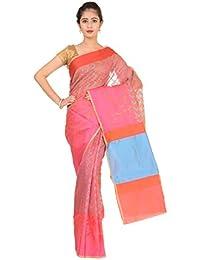 Paheli Women's Silk Saree (Pink)