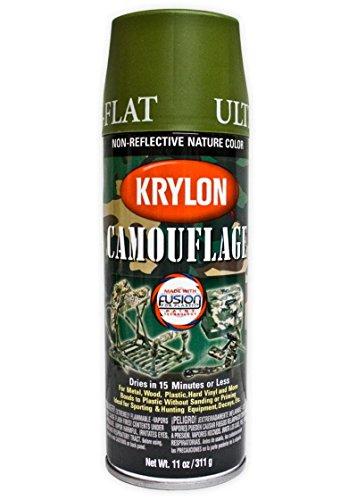 SPRAY KRYLON COLOR VERDE CLARO MATE (WOODLAND LIGHT GREEN ULTRA-FLAT)